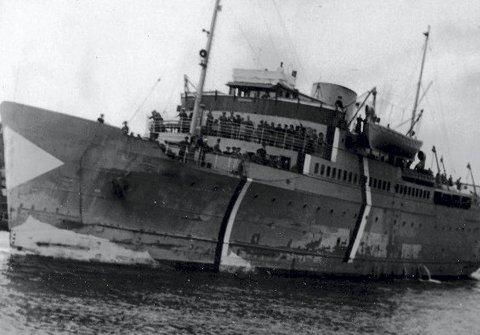 KRIGSSKIP: Peter Wessel under tysk kommando. Skipet bærer preg av slitasje og dårlig vedlikehold.