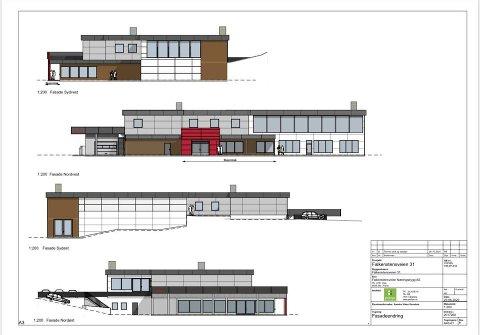 TEGNINGENE: På treningssenterets facebookside deler Sporty24 tegningene av de nye lokalene på Apenes.