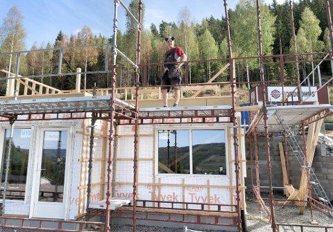 NEDGANG: Færre bygger bolig. Bildet er fra Gullbekkbakken i Kongsvinger.