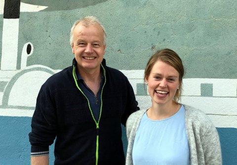 Dag Lindvig og Ingrid Kongsvoll er ansatt som prosjektledere i Skåppå Kunnskapspark.