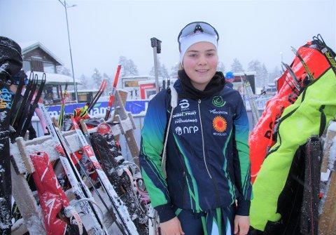 FORNØYD: Oda Støen Kolkinn fra Sås var godt fornøyd med 11. plassen i klasse K20-22.