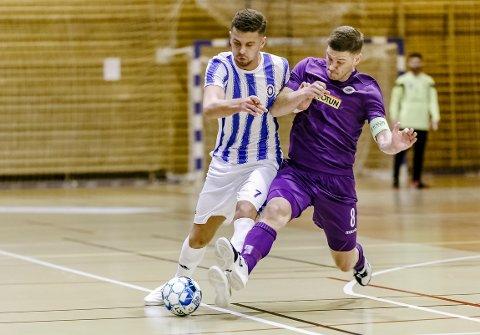 Rinor Topallaj og Fredrikshald spilte 5-5 mot Hulløy søndag.