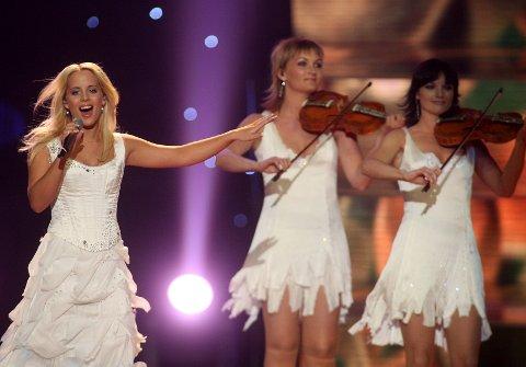 ATHEN 2006: Christine Guldbrandsen sang «Alvedansen» da hun representerte Norge i Melodi Grand Prix.
