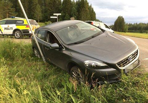 ENDTE HER: Her endte kjøreturen i Aurskog-Høland for romerikingen i juni i fjor.