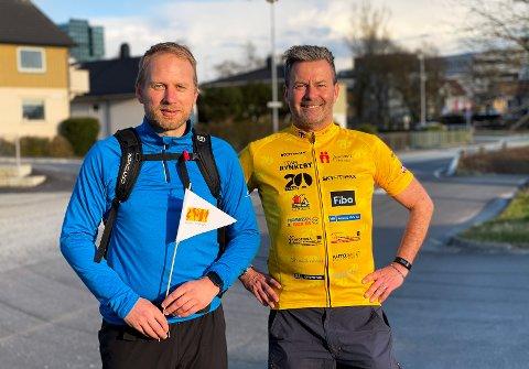 30 KILOMETER: Jon-Ingar Mæland og kompisen Paul-Magnar Wollstadmo har så langt bare positive ting å si om dagens tur fra Forus til Nærbø.