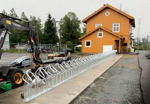 SNART FERDIG: Bane NOR Eiendom opplyser at prosjektet vil bli ferdigstilt i løpet av sensommeren eller høsten.