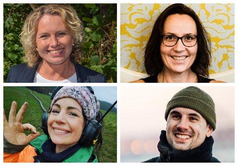 (F.v. oppe) Lilli Britt Urheim, Karianne Solheim, Marianne Nordhus og Aleksander Rebaudo.