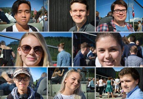 Onsdag startet cirka 600 nye studenter på Høgskolen i Sørøst-Norge, campus Kongsberg. Her er noen av dem.