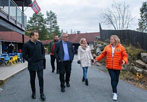 Politikerbesøk i Langekjenntunet barnehage