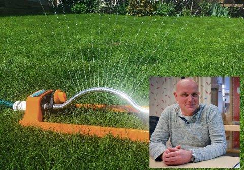 Dobling av vannforbruket gjør at Roar Jarness må sette restriksjoner på hvor mye du kan bruke.