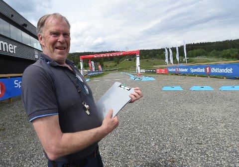 I SITT RETTE ELEMENT: Heikki Dahle stortrives når han er på sykkelritt. Her under norgescupen i terrengsykling på Lillehammer nylig. FOTO: OLE JOHN HOSTVEDT
