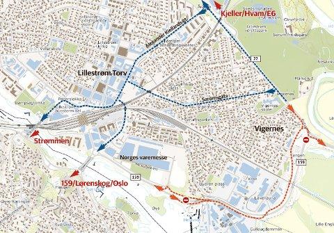 OMKJØRING: Det finnes flere omkjøringsmuligheter med riksvei 159 stengt.