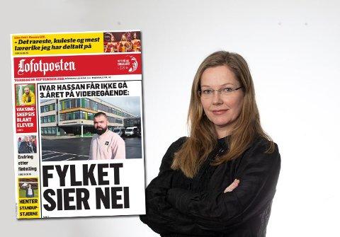 Statssekretær Anja Johansen i Kunnskapsdepartementet reagerer på at Ivar Hasan ikke får skoleplass og har tatt en titt på reglementet.
