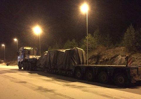 Hit, men ikke lenger for denne spesialtransporten fra Portugal.