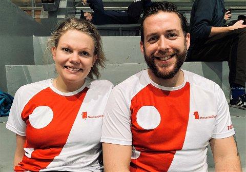 NASJONALBALL: – Vi er fra Nasjonalbiblioteket, så da var lagnavnet opplagt, sier Mia Løvstad og Lars Haga Raavand.