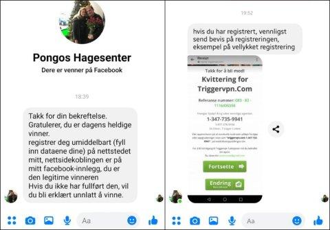 MANGE KUNDER: Disse meldingen er det mange av Pongos Facebook-følgere som har fått lørdag kveld.
