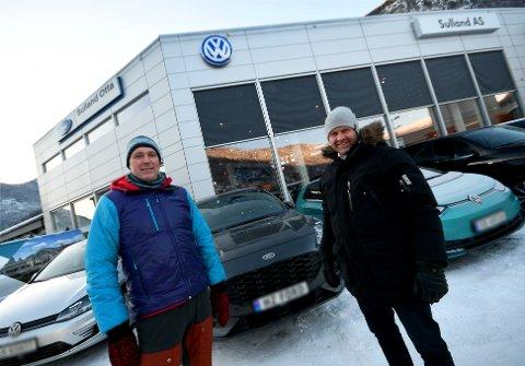Regionkonsulent Stian Høglien og daglig leder hos Sulland Otta, Vebjørn Haugen.