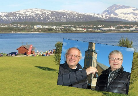 Dette 14 mål store arealet ned mot sjøen på Kvaløysletta er i arealplanen satt av til blant annetet framtidig kirkebygg for bydelen.