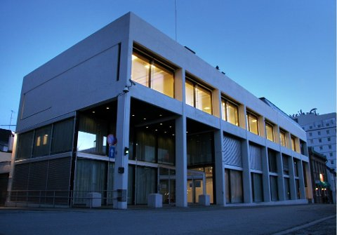 Foto: Ole Åsheim.  Norges Bank - bygget vernes.  NOKAS - Norsk Kontantservice AS avdeling Tromsø Bankgata 9/11