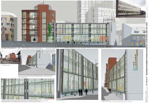 BLIR NY: Kontorbygget Strandgata 41 blir et nytt signalbygg i Tromsø sentrum