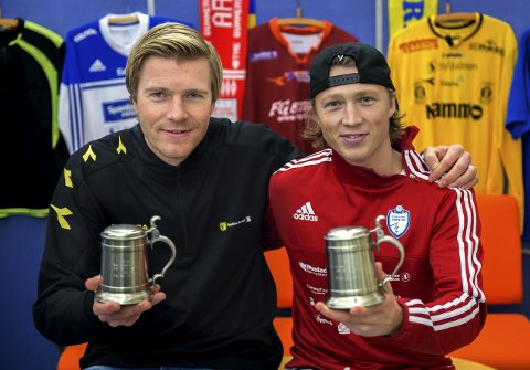 LOKALOPPGJØR: Petter Senstad (t.v) og Stian Simenstad møtes igjen til lokaloppgjør i cupens 1. runde.