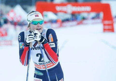 Ingvild Flugstad Østberg vant søndagens fellesstart i Tour de Ski. Foto: Terje Pedersen / NTB scanpix
