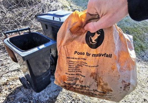 PAPIRPOSER: Horisont mener totalt sett at papirposer er bedre enn biologisk nedbrytbare plastposer.