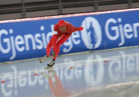 Fosi Suleiman lå veldig sin personlige rekord på 500 meter før fallet.