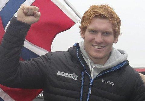 VANT: Med helgens seier er Ben-Philip Gundersen nå ti poeng bak sin argeste konkurrent i NM-sammendraget.