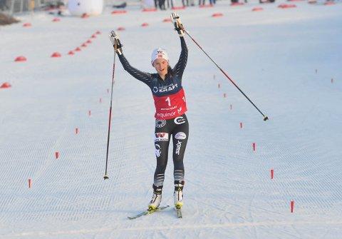 SUVEREN: Gyda Westvold Hansen fra Dalsbygda tok NM-gull i kombinert på Beitostølen lørdag.