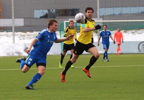 Sander Sjøstrøm var svært nær scoring, men mål ble det ikke denne gang.
