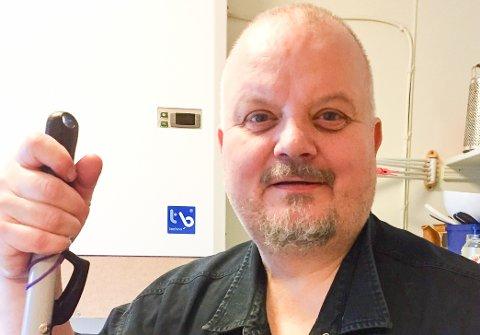 Oskar Torkelsson er den nye kjøpmannen ved Myken Handel. Han setter pris på å finne en jobb i Nord-Norge.