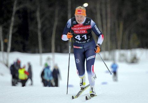 TOPPLØP: Vilde Flatland vartet opp med toppløp da hun ble nummer 12 på sprinten i U 23-NM i langrenn.