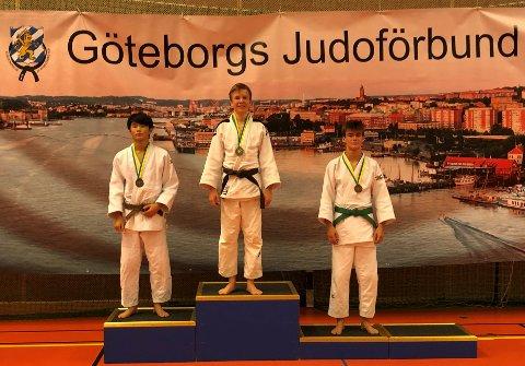 SIKRET SEG GULLET: Mats Eek Gerhardsen sikret seg 1. plass i U21-klassen i Sverige.