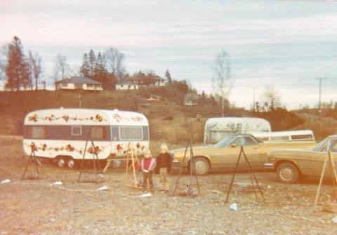 FRA TIDEN PÅ HOLM: Det bildet er tatt på slutten av 70-tallet.