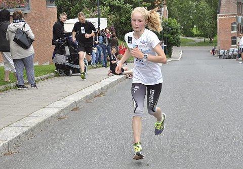 VANT: Eidsberg-jenta Tora Rønneberg Weng slo alle damene på fem kilometeren med klar margin i fjorårets løp. ARKIVFOTO
