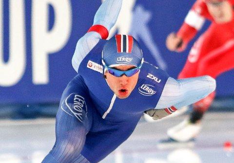 NUMMER ÅTTE: Jørgen Sæves gikk inn til en sterk åttendeplass på 500 meter i B-gruppa i Polen. Tiden ble 35,69