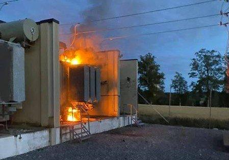 Brann: Slik så det ut inne på anlegget. Foto: Elvia