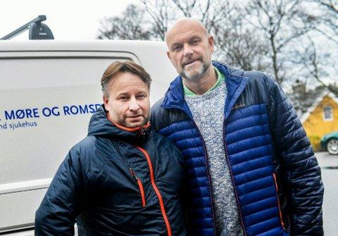 Roy-Olav Holten (til venstre) og Geir Nordli har meldt seg inn i Helsepartiet. Denne uka stiftes fylkeslag.