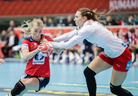 Stine Bredal Oftedal var viktig for Norge i VM-kampen i håndball mot Danmark søndag.