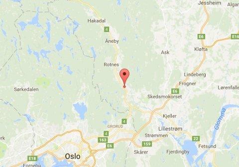 NÆRSLATTUM:Kart som viser episenteret for søndagens jordskjelv, men der feilmarginen ifølge NORSAR er noen kilometer.