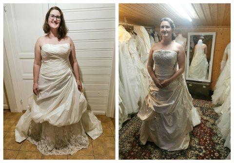 Kristine Holen Grønningsæter har startet egen brudesalong med brukte brudekjoler i garasjen i Vestby.