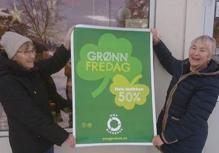 Det blir Gudrun Bele (t.v.) og Kjellrun Heggem som møter kundane på grøn fredag.