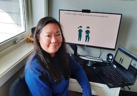Aslaug Skjold Unhjem, fagkonsulent i barneverntjenesten bydel Bjerke, sier det er viktig å komme i kontakt med barn og unge under pandemien. Mange sliter og det kan være vanskelig for lærere eller andre voksne å plukke opp når all kontakt skjer digitalt.