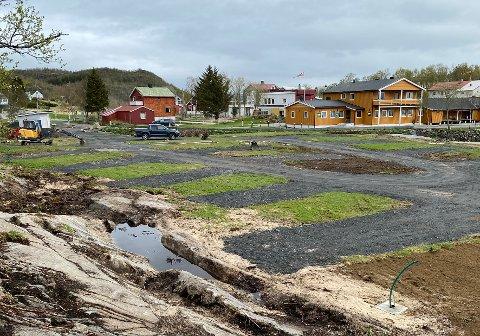 Innspurt: Det jobbes på spreng for at Camp Skutvik skal stå ferdig