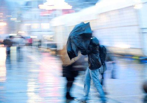 Det blir mye vind i Bergen nyttårsaften. (Arkiv)