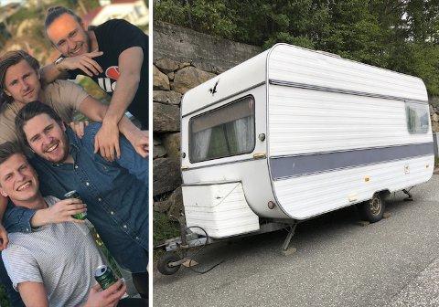 Lasse Rokstad Weiseth (21), Vebjørn Espe (22) Henrik Örn Fossedal (23) og Einar Malmo (25) legger ut på litt av en ferietur denne sommeren.