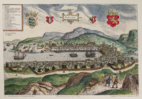 Scholeusstikket er det eldste kjente prospektet av Bergen. Det ble trykket i 1588 i et verk som skulle presentere så mange av verdens viktige byer som mulig. Bergen var den eneste norske byen som kom med.