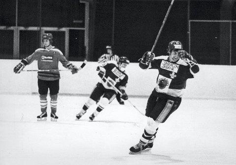 Frank Evensen var den store lokale hockeyhelten                 i Bergenshallen da Djerv-eventyret var på topp på slutten av 1970- og begynnelsen av 1980-tallet.
