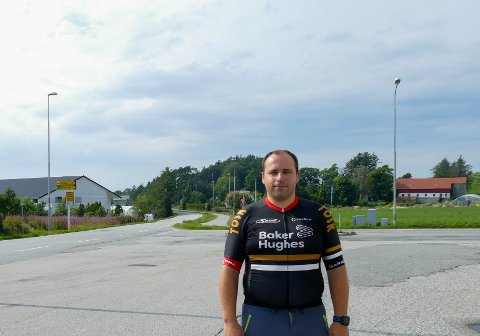Gleder seg: Leder for Tasta & Omegn Sykkelklubb, Bjørn Bergaas Utne, gleder seg til sykkelritt.